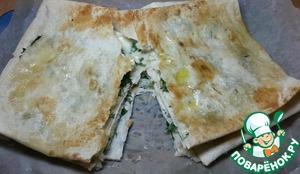 Рецепт Простой пирог с сыром из лаваша