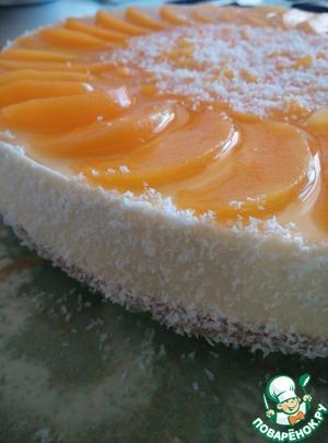 Рецепт Творожно-персиковый торт с мюсли