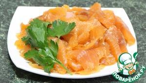 Рецепт Соленая форель, семга, лосось