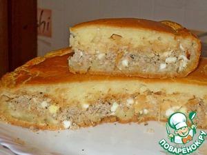 Рецепт Пирог с мясом и капустой