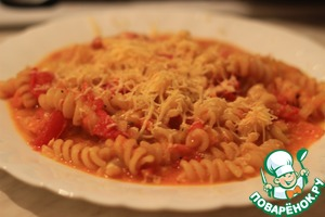 Рецепт Паста с помидором и грушей