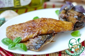Рецепт Рыбные терияки с жареными баклажанами