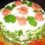 Торт с семгой или форелью
