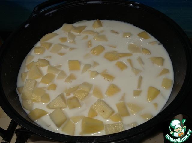 Картофель в молоке рецепт пошаговый с