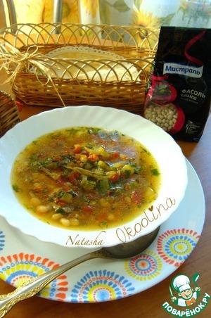 Рецепт Густой суп с фасолью и овощами