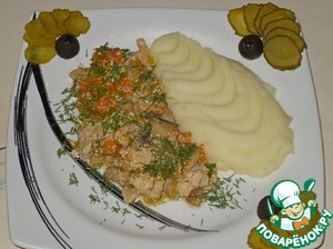 Рецепт Рагу из кролика с тыквой и грибами
