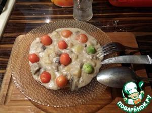 Рецепт Грибная солянка на молоке со сметаной