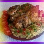Курица по-аджарски с рисом