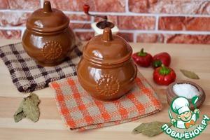 Рецепт Горшочки с кашей и овощами
