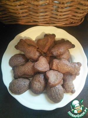 Рецепт Шоколадное печенье в формочках