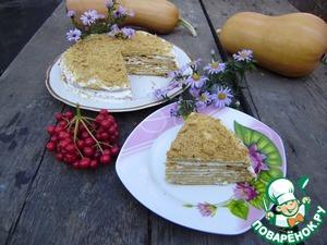 Тыквенный торт с медом вкусный пошаговый рецепт с фотографиями как готовить