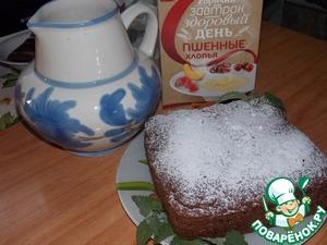 Рецепт Шоколадный пирог с яблоками и пшёнными хлопьями