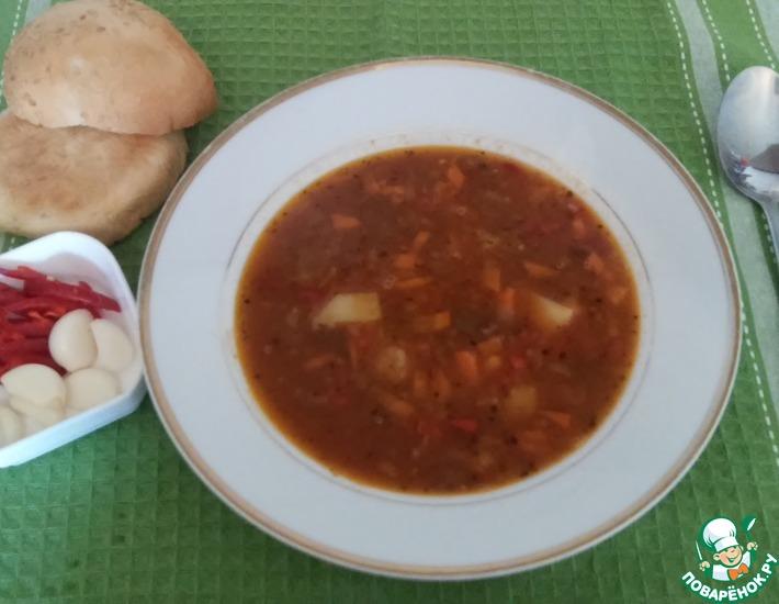 Рецепт: Мексиканский суп Семь бобов