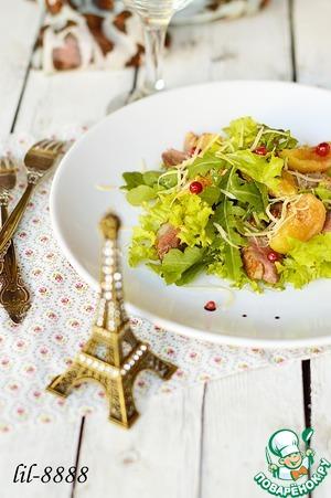 Рецепт Салат из утиной грудки с маринованным инжиром