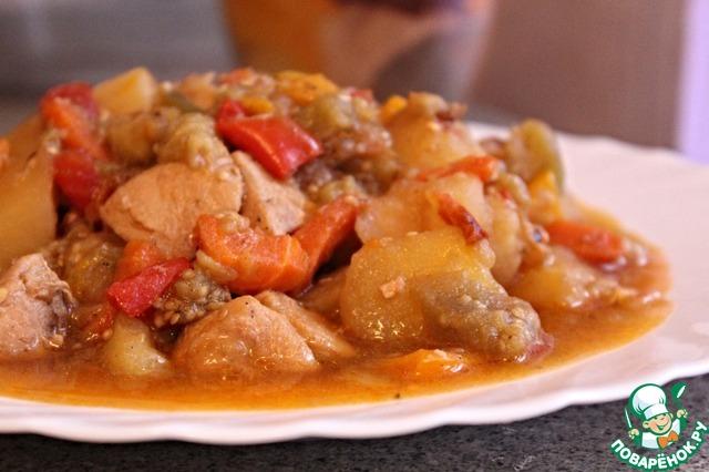Как приготовить рагу с курицей фото 19