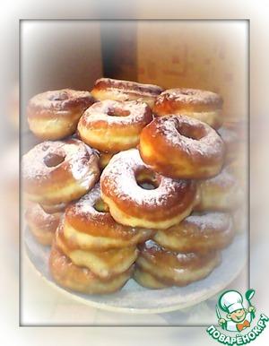 Рецепт Бездрожжевые пончики