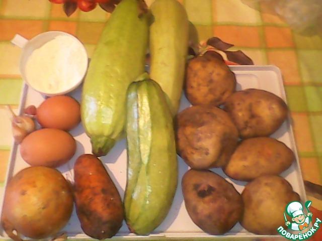 Картошка кабачок с фото пошагово