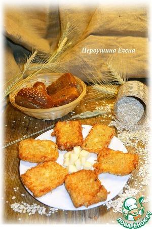 Рецепт Жареный сыр в овсяной панировке