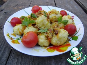 Рецепт Галушки полтавские на кефире