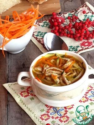 Рецепт Осенний овощной суп с гречневым омлетом