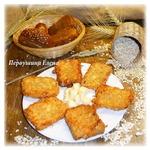 Жареный сыр в овсяной панировке