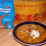 Томатный гречневый суп