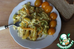 Рецепт Картошка, жаренная с яйцами по афонскому рецепту монастыря Кутлумуш