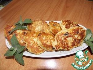"""Рецепт Оладьи """"апельсиновые"""" с пшёнными хлопьями"""