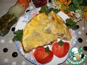 Рецепт Запеканка из пельменей с кабачками