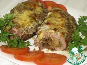 Рецепт Рулетики из свинины с пикантной начинкой
