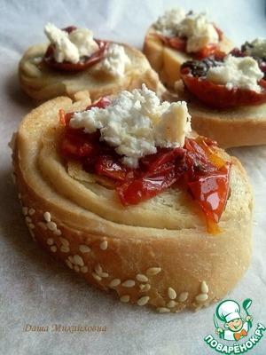 Рецепт Брускетта с вялеными помидорами