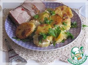 Рецепт Картофель с пореем в сливках