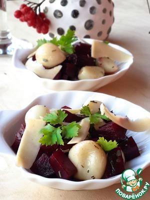 Рецепт Салат из свеклы и жареного чеснока