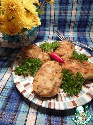 Рецепт Картофельно–гороховые котлеты с фаршем