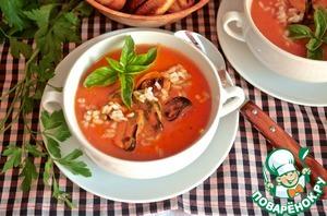 Рецепт Томатный суп с рисом и мидиями