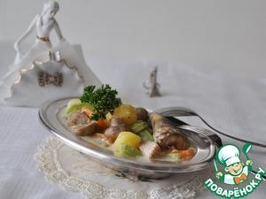 Рецепт Бланкет из белой рыбы с грибами