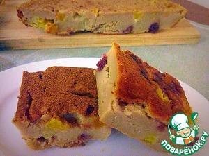 Рецепт Заварной пирог с апельсинами и нектаринами