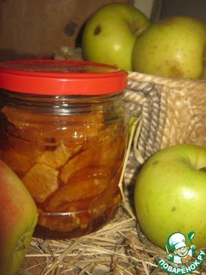"""Рецепт Яблочные дольки в ванильной карамели """"Муха в янтаре"""""""