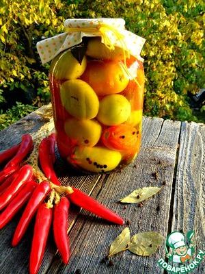 Рецепт Зеленые помидоры в пряном маринаде