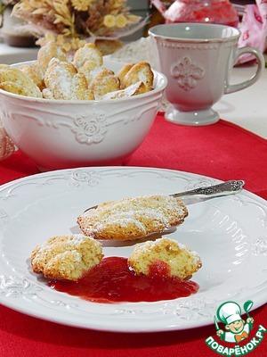 Рецепт Бисквитное печенье мадлен на чайном масле