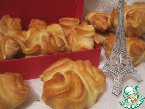 Французская булочка с кремом рецепты