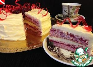 Рецепт Клюквенный торт с белым шоколадом