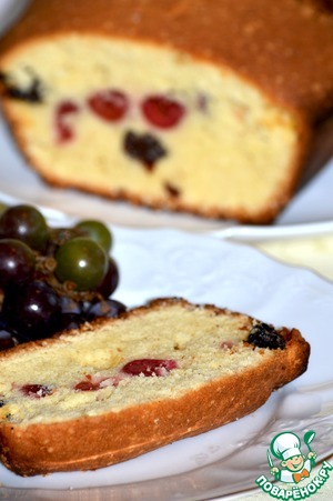 Рецепт Сдобный кекс с ромом, изюмом и вишней