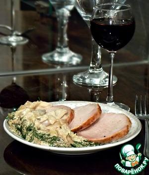 Рецепт Свиная вырезка с грибным соусом по-французски