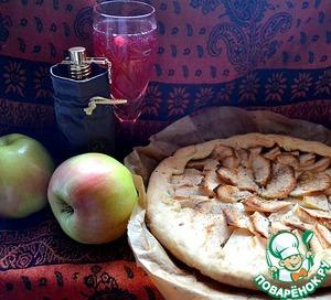 Рецепт Галета с яблоками и овсяно-имбирной крошкой