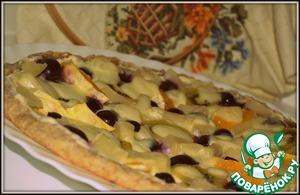 """Рецепт Фруктовая пицца """"Каприз"""""""