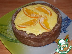 Рецепт Шоколадный пирог с творогом и джемом