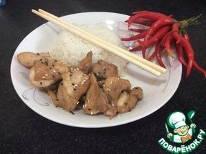 Рецепт Курица по-сычуаньски китайская