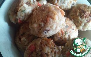 Рецепт Котлеты с крабовыми палочками и орехами