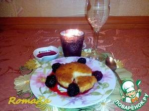 Рецепт Жаренный камамбер с малиновым вареньем и ежевикой